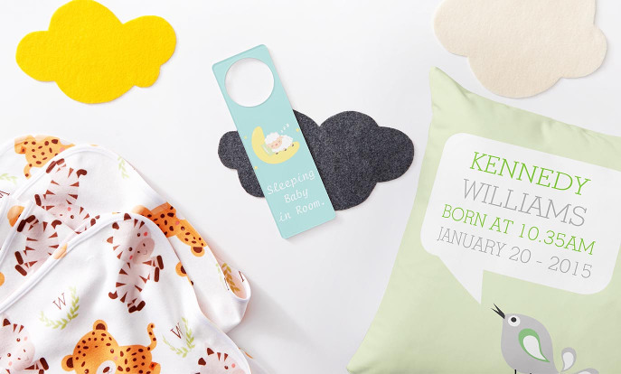 De leukste spulletjes voor je babykamer vind je bij Zazzle.