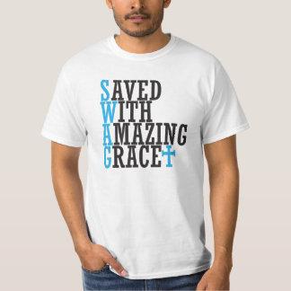 SWAG Bewaard met de Verbazende T-shirt van het