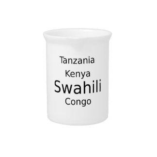 Swahili Taal (Kenia, Tanzania, en de Kongo) Bier Pitcher