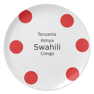 Swahili Taal (Kenia, Tanzania, en de Kongo) Bord