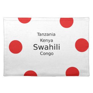 Swahili Taal (Kenia, Tanzania, en de Kongo) Placemat