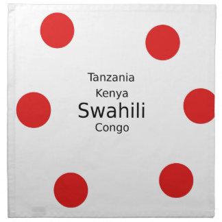 Swahili Taal (Kenia, Tanzania, en de Kongo) Servet