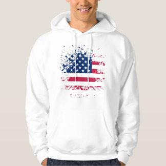 Sweat A Capuche Man Wit Basic USA Flag Hoodie