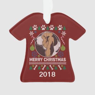 Sweater van Kerstmis van Basset Hound de Lelijke Ornament
