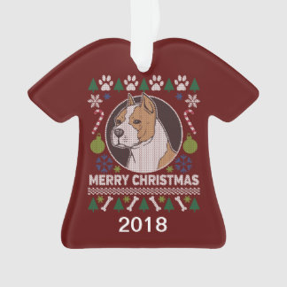 Sweater van Kerstmis van de Stier van de Kuil van Ornament