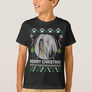 Sweater van Kerstmis van het Hondenras van Apso