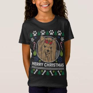 Sweater van Kerstmis van het Hondenras van Yorkie