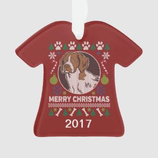 Sweater van Kerstmis van het Spaniel van Bretagne Ornament