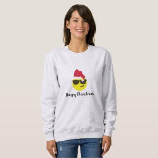 Sweatshirt van Kerstmis van Emoji het Gelukkige