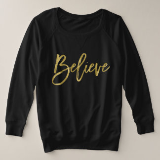Sweatshirt van Kerstmis van Faux gelooft het