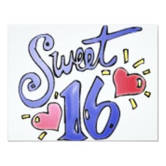 sweet16 10,8x13,9 uitnodiging kaart