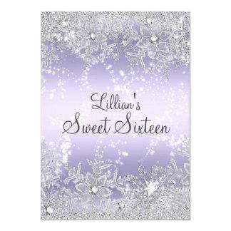Sweet16 Sprookjesland van de Winter van de 12,7x17,8 Uitnodiging Kaart