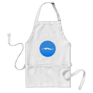 swim_in_Blue2Swimming logo op T-shirt Standaard Schort