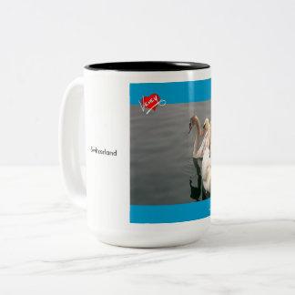 Swooning op Lak Léman Tweekleurige Koffiemok