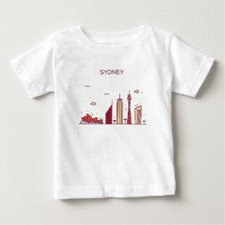Sydney, Australië | Horizon van de Krabbel Baby T Shirts