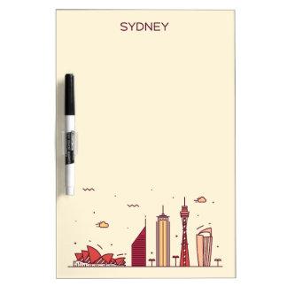 Sydney, Australië | Horizon van de Krabbel Dry Erase Whiteboard