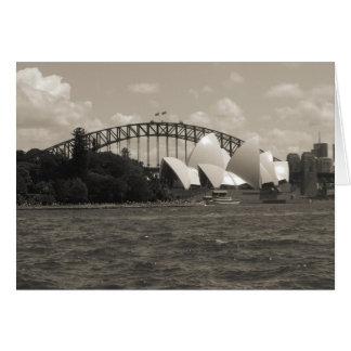Sydney haven zwart wit kaart