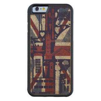 Symbolen van Londen van de Liefde van Union Jack Esdoorn iPhone 6 Bumper Hoesje