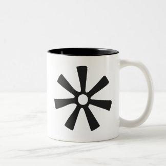 Symbool ANANSE NTONTAN | van Wijsheid, Tweekleurige Koffiemok
