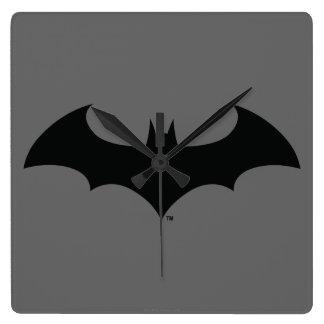 Symbool   van Batman het Eenvoudige Logo van het Vierkante Klok