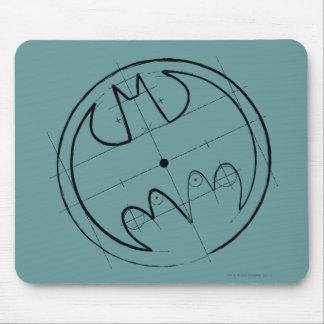 Symbool | van Batman het Technische Logo van de Muismat