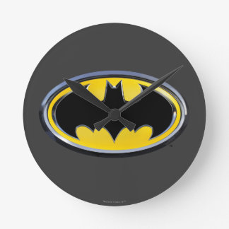 Symbool   van Batman Klassiek Logo Ronde Klok