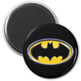 Symbool   van Batman Klassiek Logo Ronde Magneet 5,7 Cm