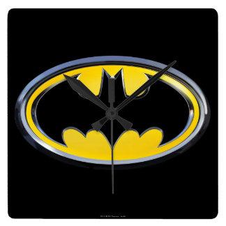 Symbool   van Batman Klassiek Logo Vierkante Klok