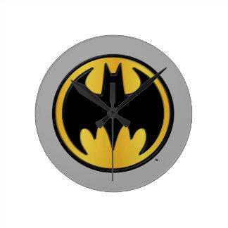 Symbool   van Batman Klassiek Rond Logo Ronde Klok