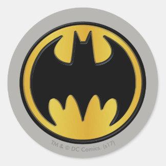 Symbool   van Batman Klassiek Rond Logo Ronde Stickers