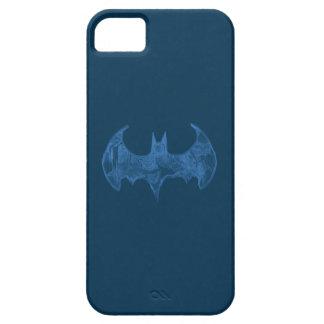 Symbool | van Batman Lichtblauw Logo Sketchbook Barely There iPhone 5 Hoesje