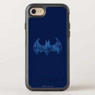 Symbool | van Batman Lichtblauw Logo Sketchbook OtterBox Symmetry iPhone 8/7 Hoesje