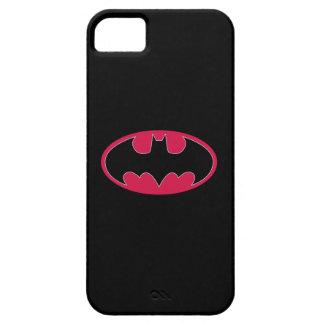 Symbool   van Batman Rood Zwart Logo Barely There iPhone 5 Hoesje