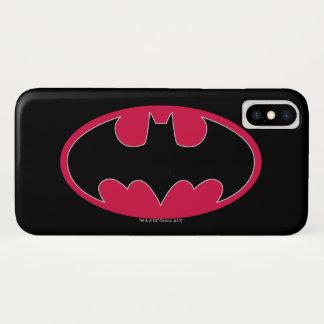 Symbool | van Batman Rood Zwart Logo iPhone X Hoesje