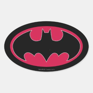 Symbool   van Batman Rood Zwart Logo Ovale Stickers