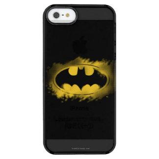 Symbool | van Batman Zwart en Geel Logo Doorzichtig iPhone SE/5/5s Hoesje