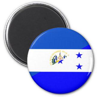 symbool van het de vlagland van El Salvador Ronde Magneet 5,7 Cm
