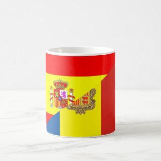 symbool van het de vlagland van Spanje Andorra het Koffiemok
