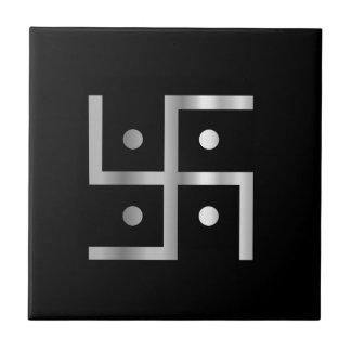 Symbool van het Hakenkruis van het Hindoeïsme Tegeltje