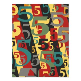 Symfonie # 5 Vijfde of Vijftigste Verjaardag 10,8x13,9 Uitnodiging Kaart
