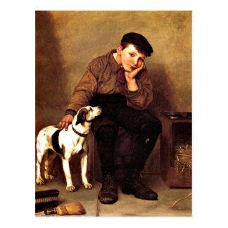 Sympathie - Jongen en Zijn Hond Briefkaart