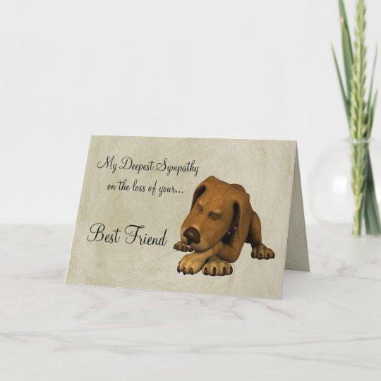 Sympathie Op Verlies Van Huisdier Hondmet Gedicht Kaart