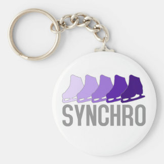 Synchro Schaatsen Basic Ronde Button Sleutelhanger