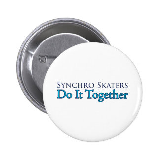 Synchro Skaters Do It Together Ronde Button 5,7 Cm