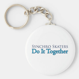 Synchro Skaters Do It Together Basic Ronde Button Sleutelhanger