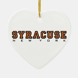 Syracuse, New York - Ltrs2 Keramisch Hart Ornament