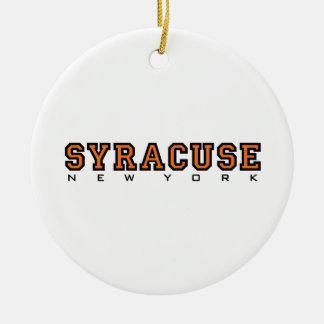 Syracuse, New York - Ltrs2 Rond Keramisch Ornament