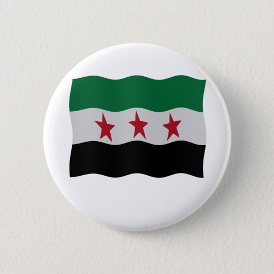 Syrian Republic Flag 1932-59 1961-63 Ronde Button 5,7 Cm
