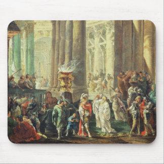 T28517 Capriccio van een Roman tempel met Alexande Muismat