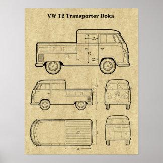 T2 Doka Van het Poster van de Druk van het Octrooi